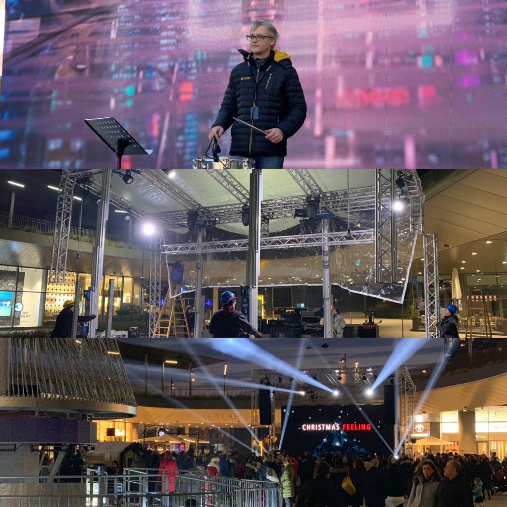 Huawei – Citylife – Inaugurazione albero e concerto